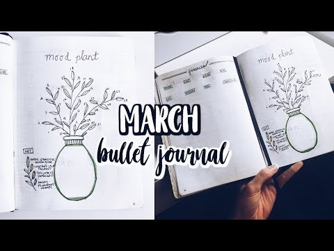 2018 MARCH BULLET JOURNAL SPREAD + FLIP THROUGH  Renee Amberg