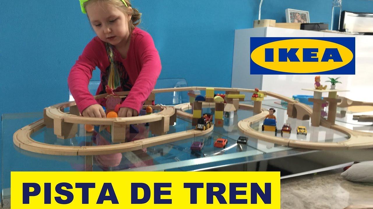 Pista de trenes de ikea lillabo y las locomotoras youtube - Tappeto pista ikea ...