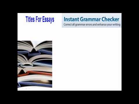 Titles For Essays