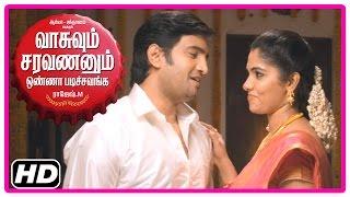 VSOP Tamil Movie | Scenes | Bhanu wants Santhanam to quit Arya's friendship | Karunakaran gives idea