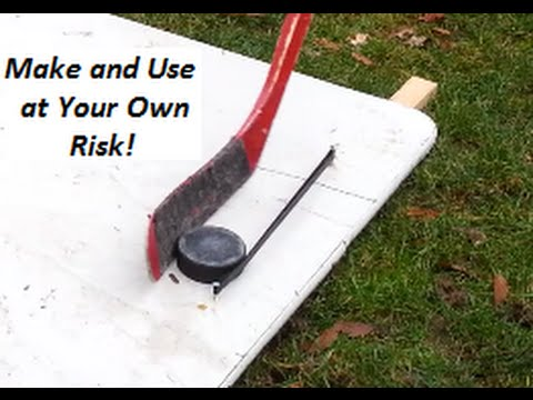 How To Make An Easy Simple Hockey Puck Rebounder