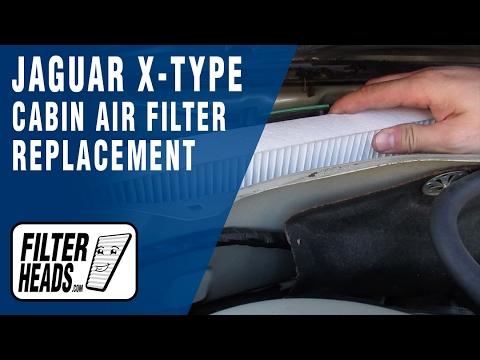 How to Replace Cabin Air Filter Jaguar X-Type 2002-2008