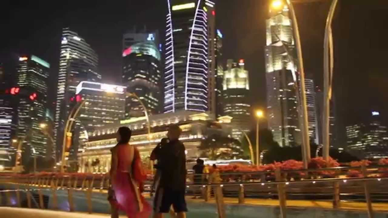 singapore city at night - YouTube