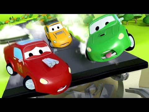 Гигантский грузовик пылесос Трансформер Карл в Автомобильный Город детский мультфильм