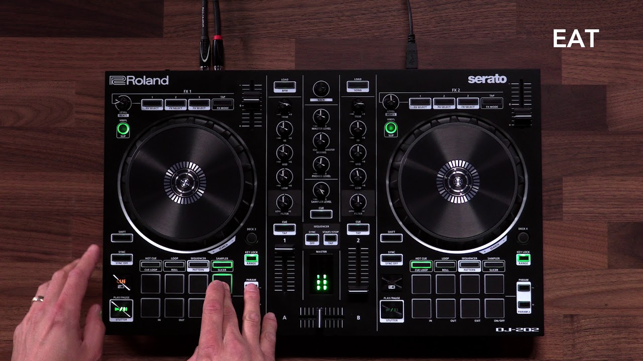 Roland DJ-202 DJ Controller   SamAsh