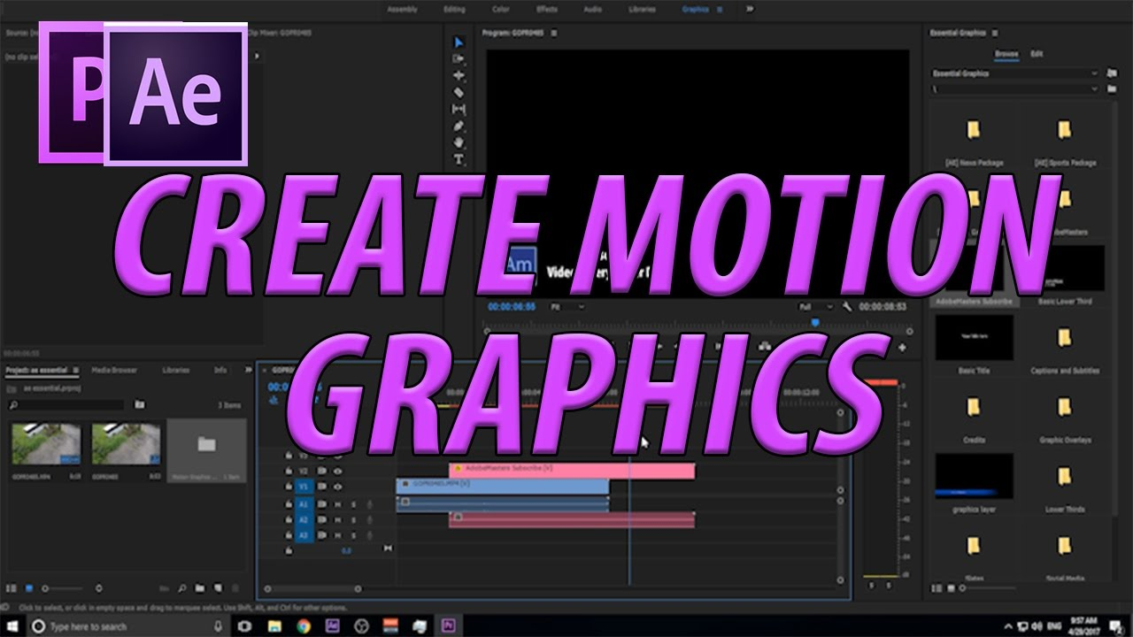 How to Create Motion Graphics Templates with Essential Graphics in ...