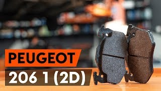 rear and front Disk pads installation PEUGEOT 206: video manual