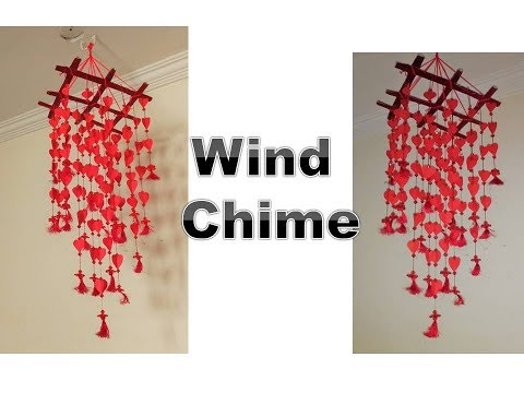 DIY home Decorating Idea | Best out of Waste | Make Beautiful Wind Chime with Paper |
