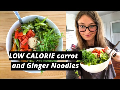 Vegan low calorie Ginger and Carrot Noodles (for weight loss)