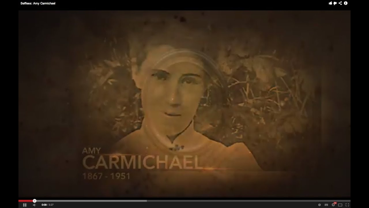 amy carmichael Amy carmichael, protector of children amy carmichael lived a life of sacrifice, service, and devotion to god she is one of the best known and well-loved missionaries of the 20th century amy was born december 16, 1867, and was raised in a devout christian home in the village of millisle on the north coast of irelandher parents.