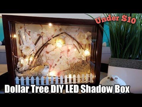 Dollar Tree DIY LED Shadow Box*My FAVORITE DIY*❤ Super Easy!