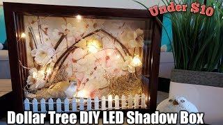 Dollar Tree DIY LED Shadow Box*My FAVORITE DIY*� Super Easy!