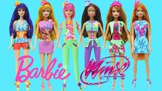 Play Doh Barbie Winx Club Fashion Style Bloom Tecna Flora Stella Musa Aisha