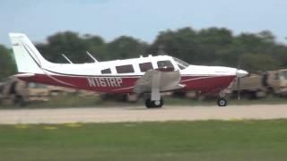 Piper Saratoga departing KOSH on 8/4/13 at 1415