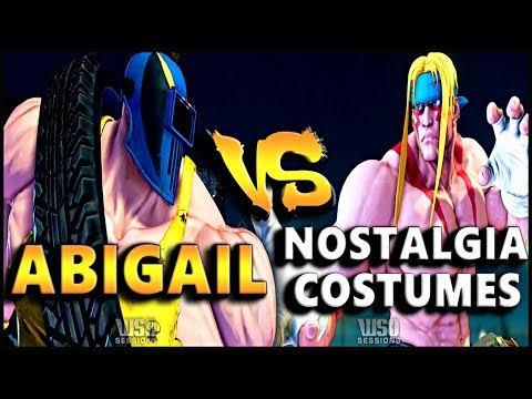 SFV - Abigail Vs Nostalgia Costumes | Abigail Gameplay Showcase - SF5