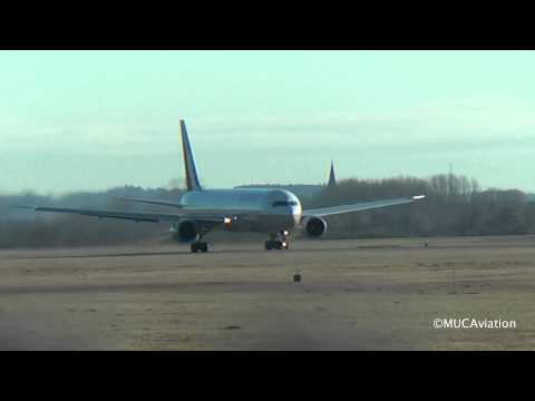 United Airlines Boeing B767-400 Takeoff at Munich Airport [FULL HD]