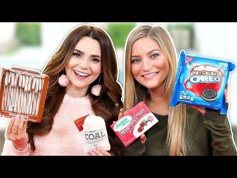 TRYING FUN HOLIDAY TREATS w/ iJustine!