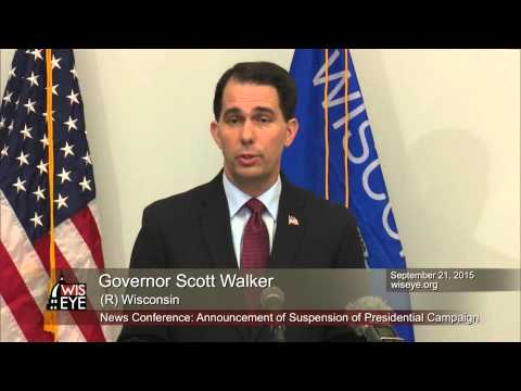 Morning Minute: Governor Scott Walker Suspends Presidential Campaign