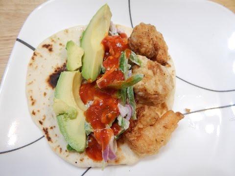 Crispy Shrimp Tacos Recipe With Homemade Slaw - Taco Recipe