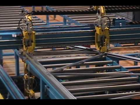 Steel Truss Assembly And Automated Pressing Of Rosette