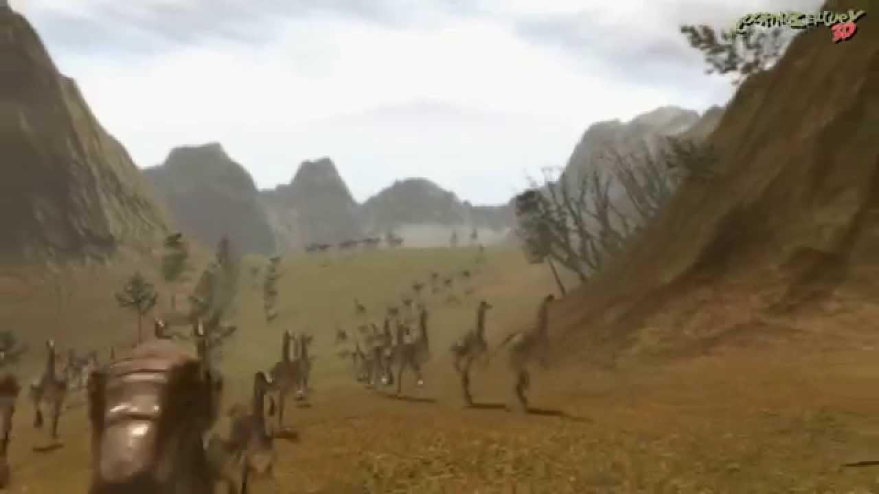 Gallimimus Stampede Lightwave Flocking System Youtube