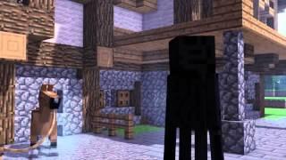 Мультик Minecraft лошадь и сено