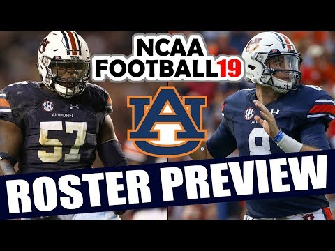 Auburn Roster Preview - NCAA Football 19 (2018 Rosters for NCAA 14)