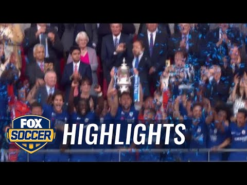 Chelsea and Conte celebrates FA Cup win | 2017-18 FA Cup Final Highlights