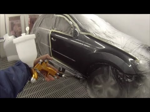 Ml350 mercedes benz spray painting youtube for Mercedes benz white paint