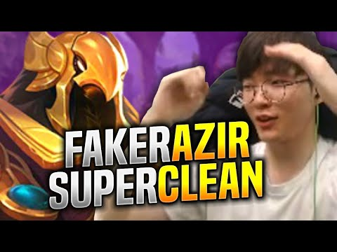 Faker Super Clean with Azir! - SKT T1 Faker Plays Azir vs Irelia Mid! | KR SoloQ Patch 9.13