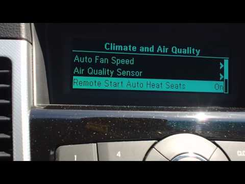 How to use remote start in a Chevrolet Cruze