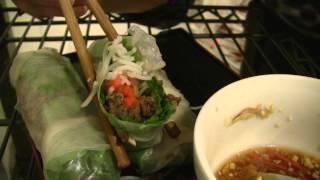 Ω (hd) Asmr / Whispers - Eating Vietnamese Rice Paper / Salad Rolls