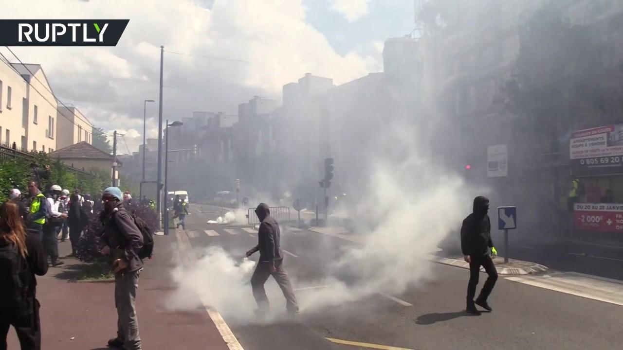 Во Франции произошли столкновения «жёлтых жилетов» с полицией