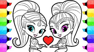 Shimmer and Shine Coloring Pages | How to Draw and Color Shimmer and Shine Coloring Book Pages