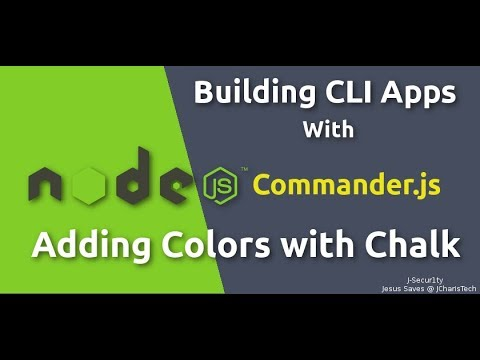 Node JS CLI Tutorials- Adding Colors To Your CLI with Chalk