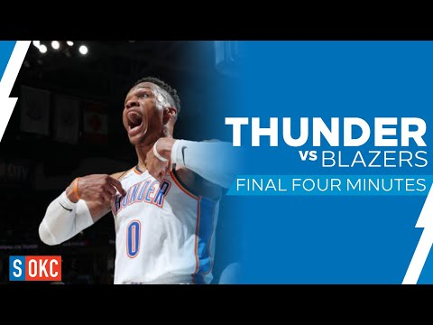 Portland Trail Blazers vs Oklahoma City Thunder: Last 4 Minutes UNCUT | January 22nd, 2019