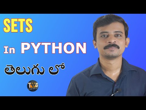 PYTHON TUTORIAL IN TELUGU - Part 16 | Sets in Python in telugu | Telugu Web Guru thumbnail