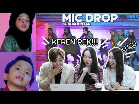 [REAKSI]CEWEK KOREA cover MIC DROP-BTS Gen Halilintar/Korean reaction cover kpop BTS