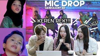 Download lagu [REAKSI]CEWEK KOREA cover MIC DROP-BTS Gen Halilintar/Korean reaction cover kpop BTS