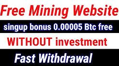 New free dollar mining website | signup bonus 0.005 free | new free Bitcoin mining website