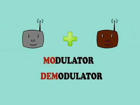How a MODEM works - Animation