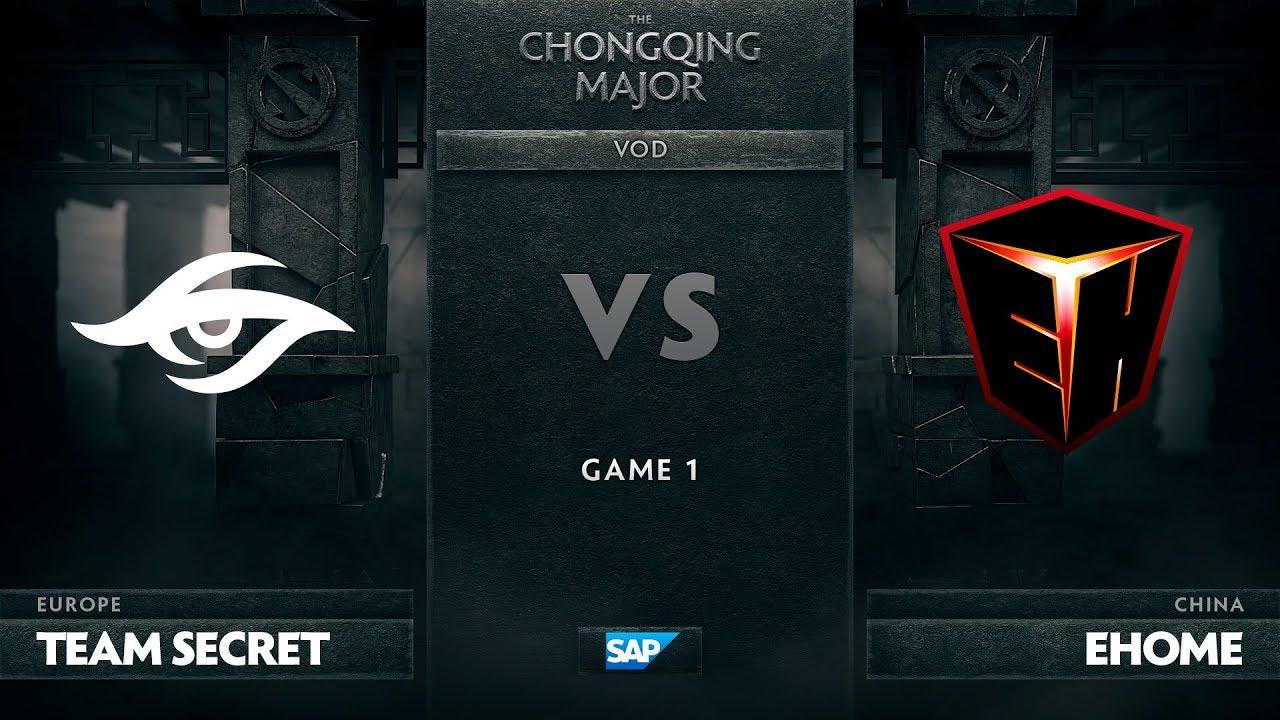 [EN] Team Secret vs EHOME, Game 1, The Chongqing Major UB Round 2