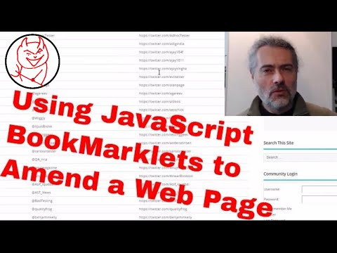 JavaScript Bookmarklets Tutorial - How To Create Bookmarklet, Amend DOM To Add HTML Links To Page