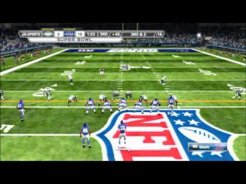 Madden NFL 12 Jets vs Giants in Super Bowl XLVI