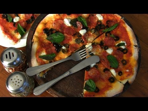 Indian Restaurant Special - Pepperoni Pizza At Cafe Mangii With Mini Ribeiro