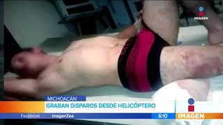 Pobladores de Tepalcatepec graban disparos desde un helicóptero   Noticias con Francisco Zea