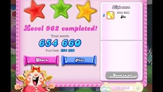 Candy Crush Saga Level 962     ★★★   NO BOOSTER