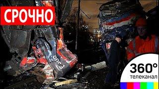 В Подмосковье военный грузовик попал под поезд и разорвался на части