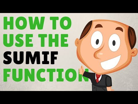 How To Use The '=SUMIF' Function In Microsoft Excel