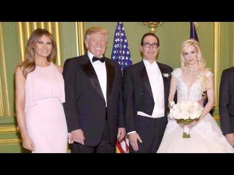 Trump attends Treasury Secretary Mnuchin's wedding